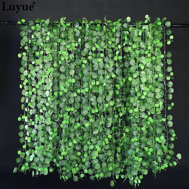 planta plantas 230cm Longitud 10 Piezas Green Garden hojas verdes hojas de hiedra enredadera boda decoración de jardín salpicado de ratán DBVf #