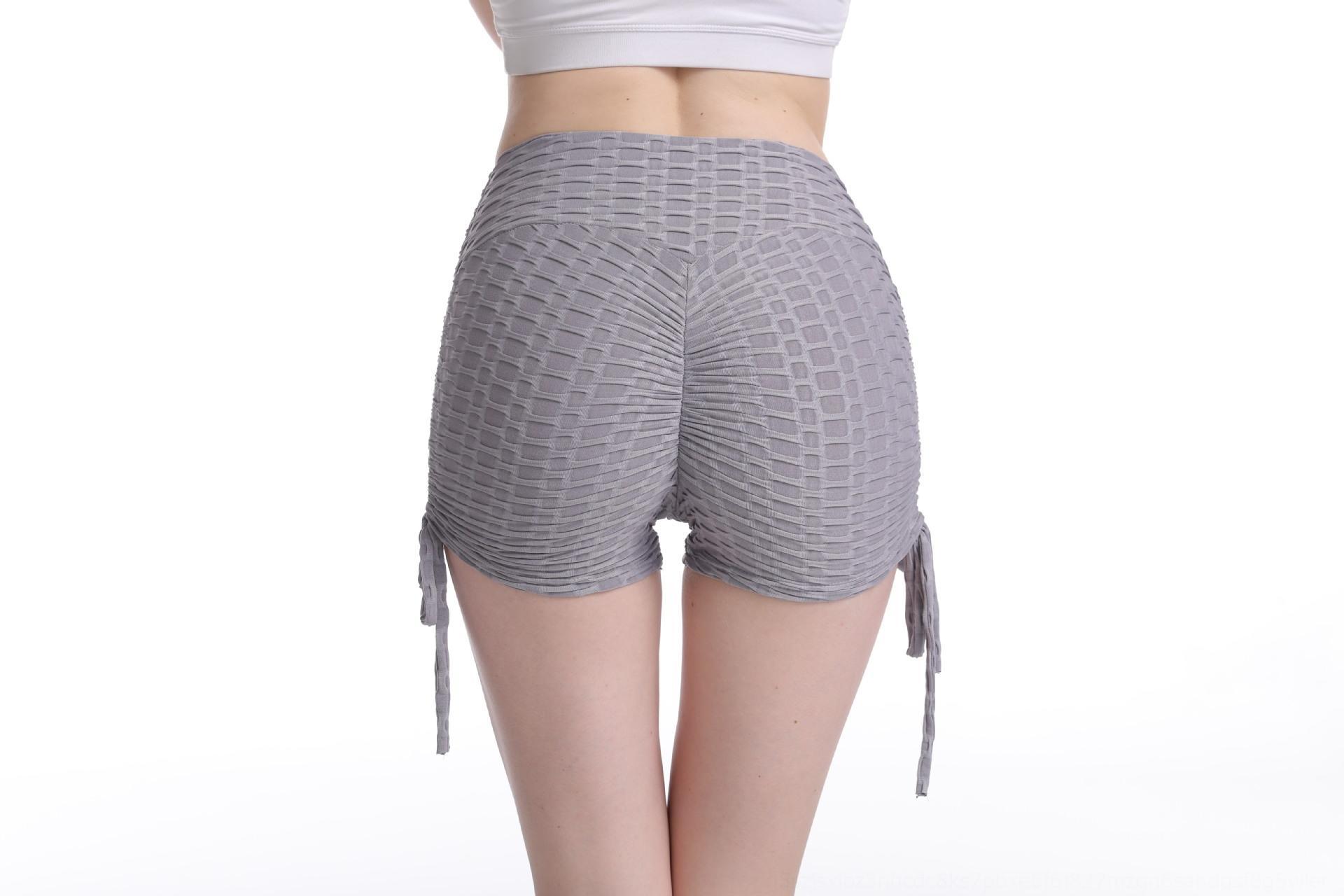 Горячие продажи шнурок пузырь Peach Hip плотно накалены талии спортивных брюк шорт спортивных брюк потоотделение йог шорты для женщин 7ywXF 7ywX