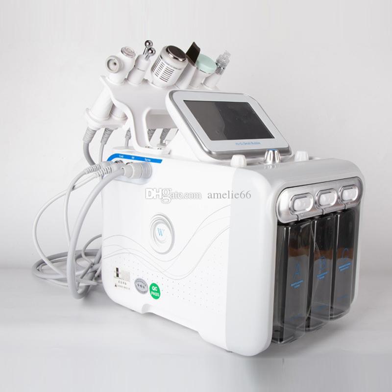 Nuovo 6 IN 1 Hydra macchina viso pelle RF Rejuvenaiton microdermoabrasione dermoabrasione Hydro bio-lifting rimozione delle rughe HydraFacial Spa
