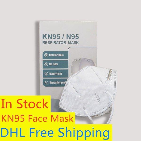 Бесплатная доставка DHL Оптовой KN95 маски для лица против пыли маски для лица Складного Non-клапан KN95 Mascarilla Защитного пыле РМ2,5 KN95 Маски