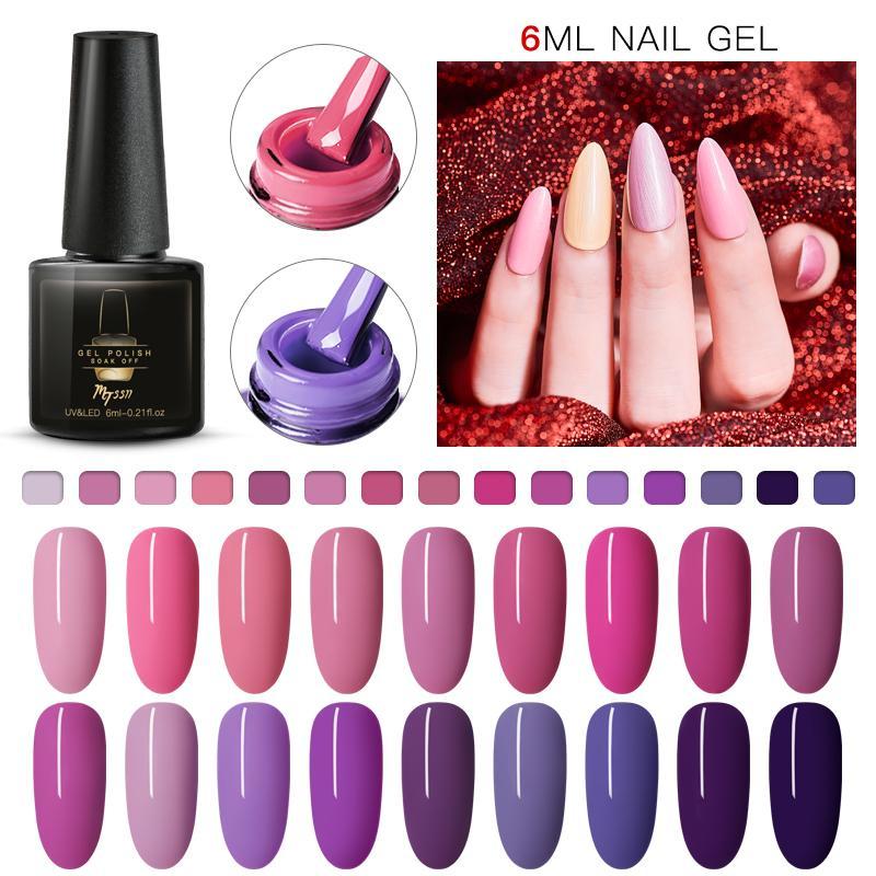 MTSSII Nude Color UV Gel Nail Polish Soak Off Nail Art