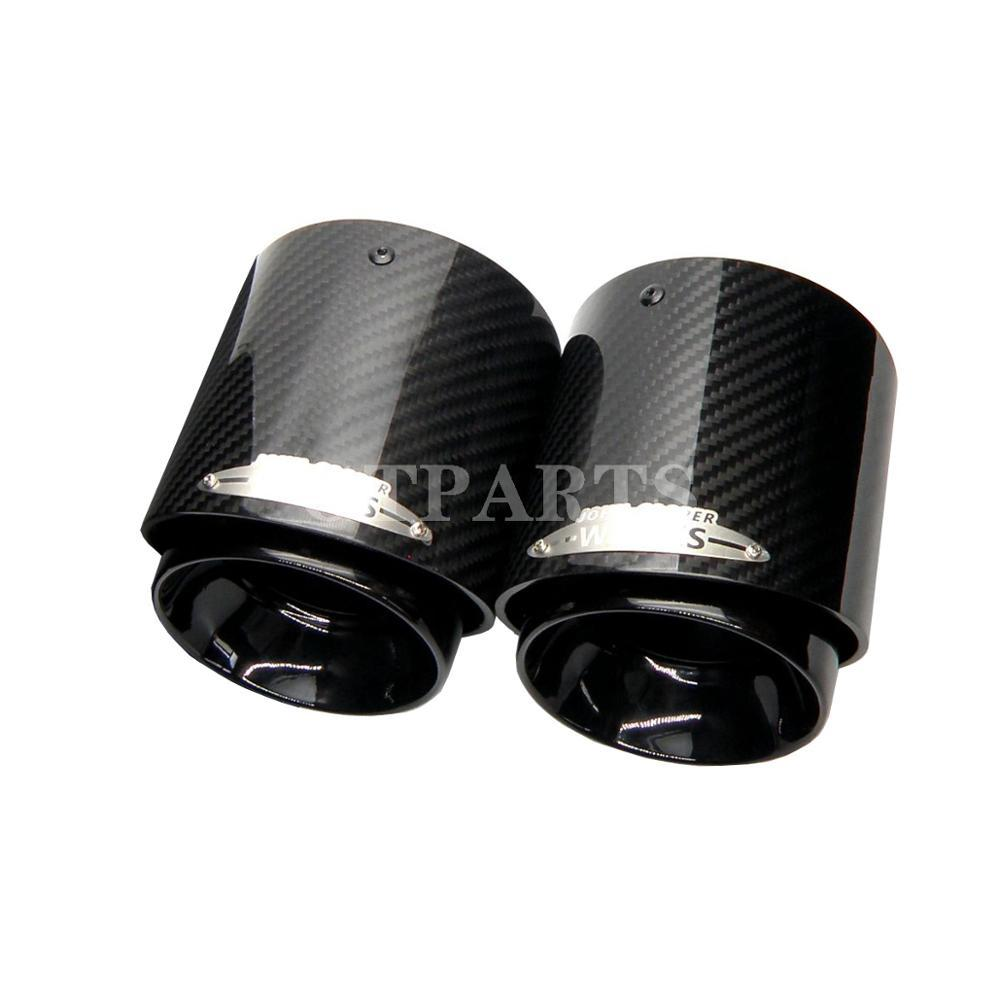Car Exhaust For Mini Cooper F54 F55 F56 F57 R60 R61 F60 R55 R56 R57 R58 R59 S JCW Carbon Fiber Exhaust Tip Pipe Car Accessories Car End Pipes Color : F54 F55 F56 F57 F60