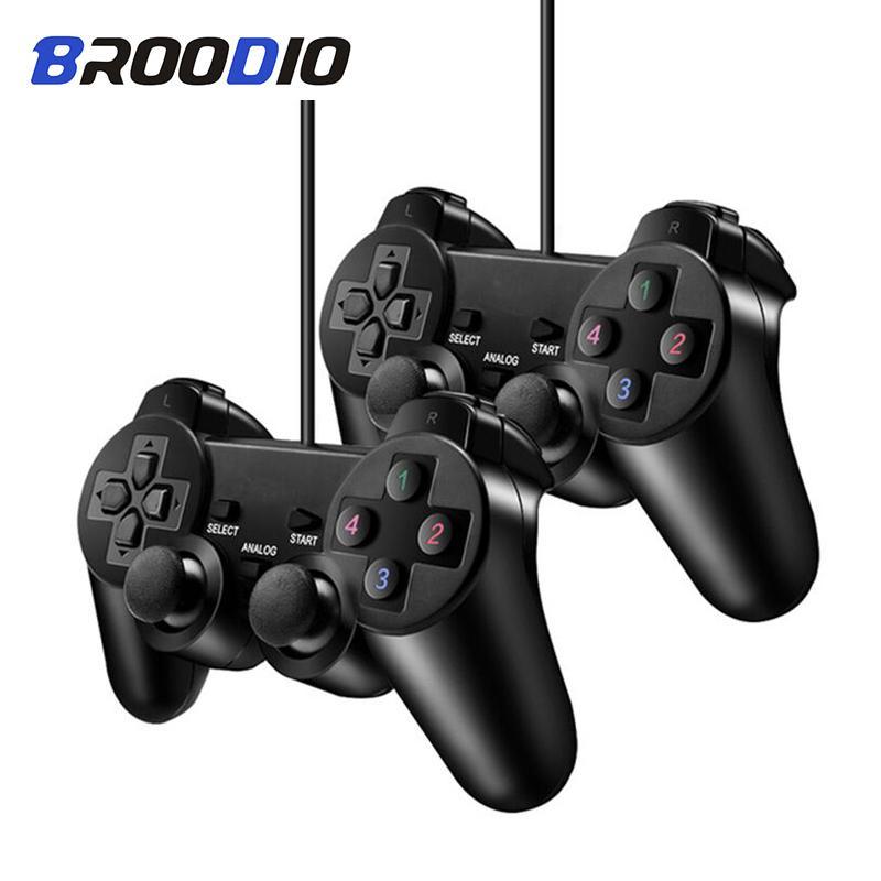 Gamepad Wired Controller pour PS2 2 Console manette de jeu pour PS2 double vibration filaire double Controle