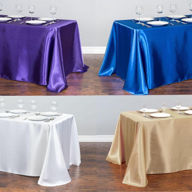Color Solid Table Tablecloth Tablecloth Vestiti Cover Satin Cover Pranzo per matrimonio 21 Banchetto Decorazione per banchetti Tavolo natalizio DBJHX