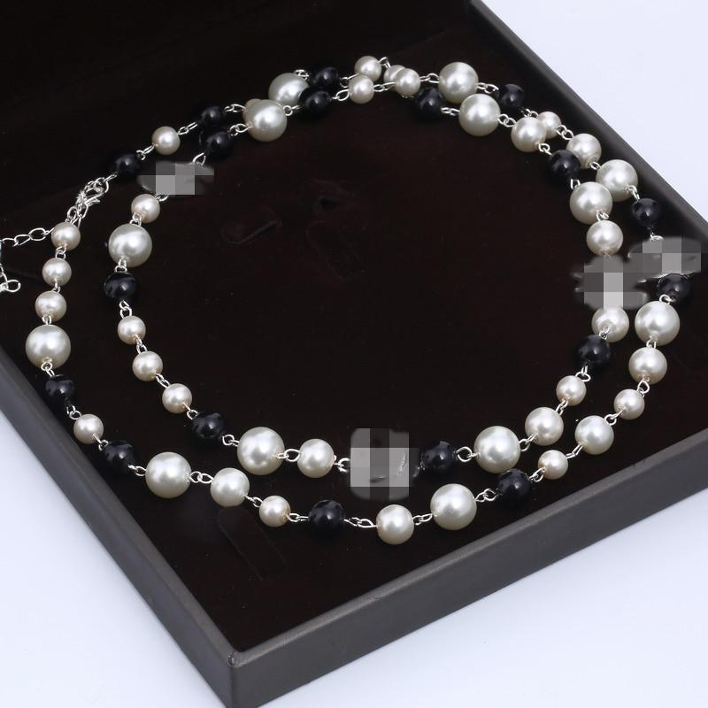 2020 NEW Women Fashion Necklace Natural Pearl Necklace Sweater Multilayer Diamond Necklace Pendants Import Crystal Brooch Bridal Jewelry