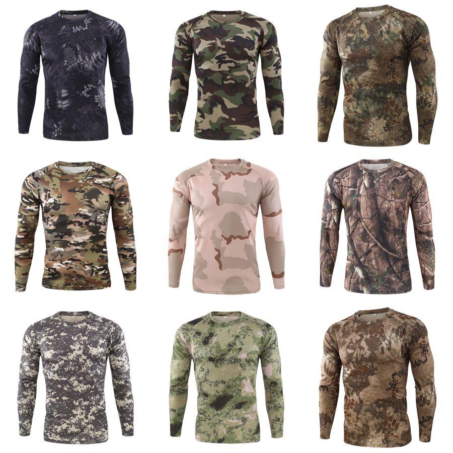 Para hombre otoño camisetas de manga larga para hombre del cuello de O Tops diseñador ocasional floja Superior Masculina primavera # 535