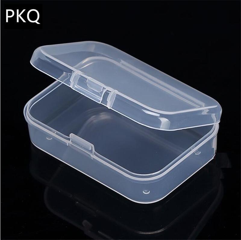 21 formati Clear Box con coperchio in plastica Piccolo Per Trifles Strumenti Parti Storage Box Jewelry Display Box Caso vite Beads Container Nuovo LJ200812