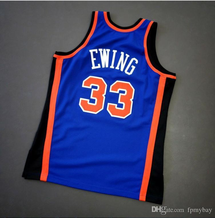 las mujeres jóvenes de Hombres Patrick Ewing Vintage Mitchell Ness 96 97 Jersey de la universidad de baloncesto tamaño S-4XL o costumbre cualquier nombre o el número del jersey