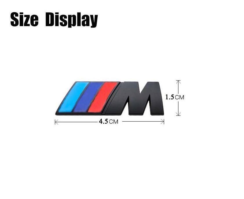 15PCS / الكثير علاوة M-SPORT لBMW سيارة كروم شعار الجناح شارة شعار ملصق 45mm و