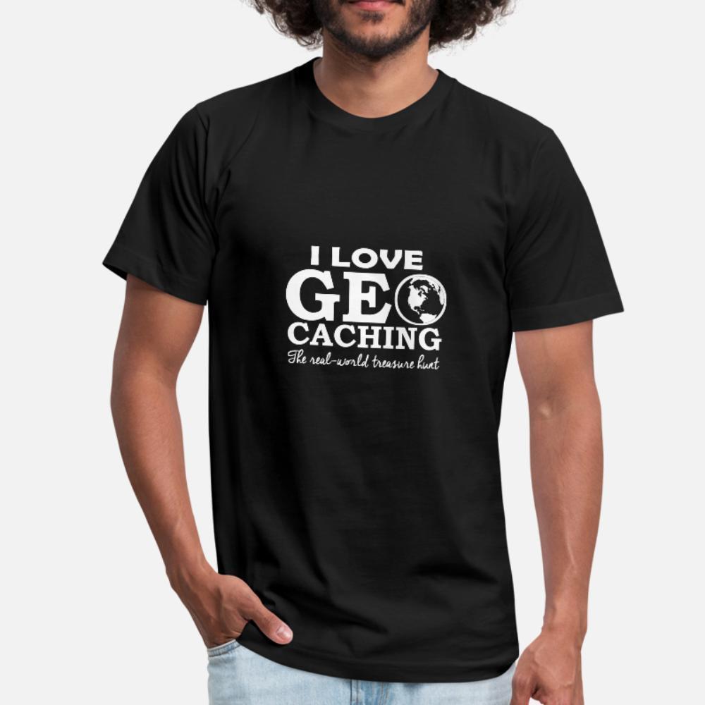 tişört S-XXXL Örme Geocaching t gömlek erkekler Crazy Rahat Bahar ince gömlek sığacak