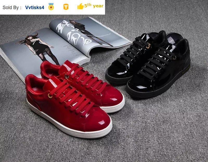 6118 ayna deri rahat ayakkabılar SNEAKERS Elbise Ayakkabı Skate Dans Balerin Flats Loafers Espadrilles takozları
