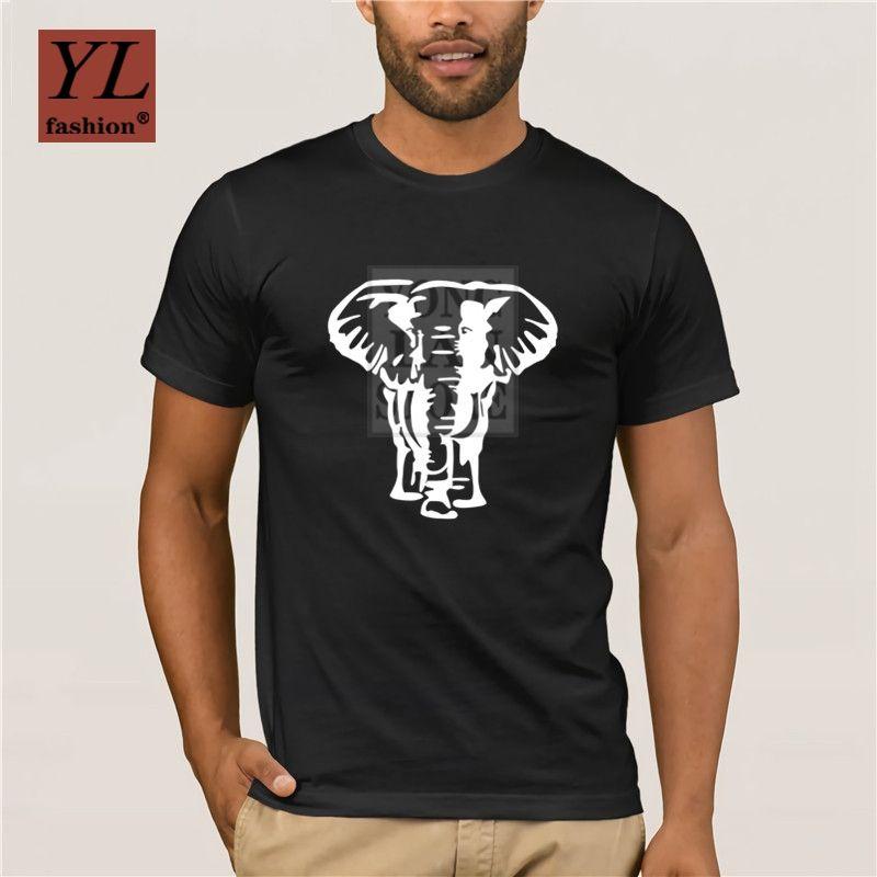 Impresso T Shirt Men S Verão 2020 do elefante camiseta de algodão de manga curta tops e