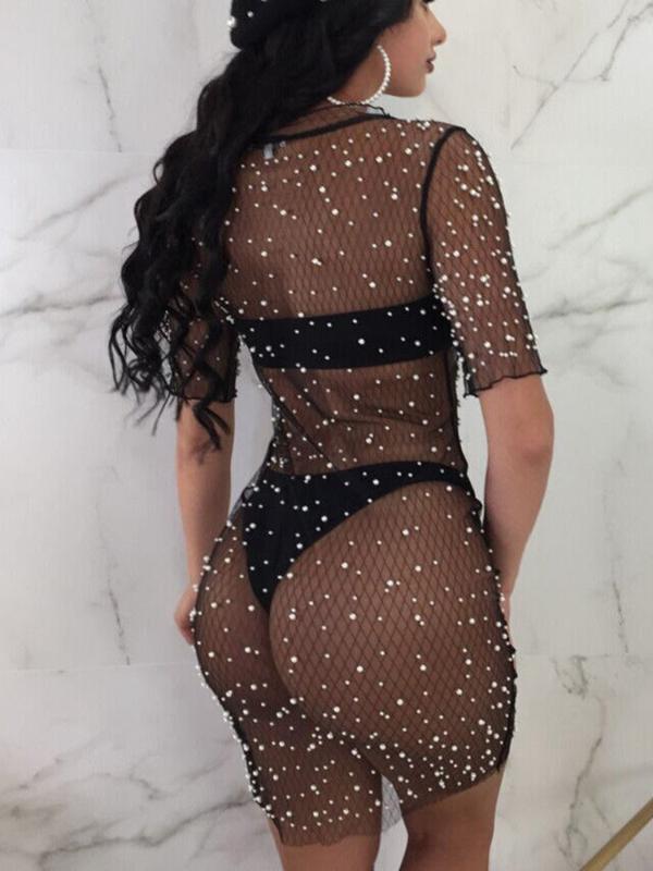 섹시한 해변 가운 드 Plage 여성 비키니 커버 UPS 스팽글 긴 덮개 위로 탑 드레스