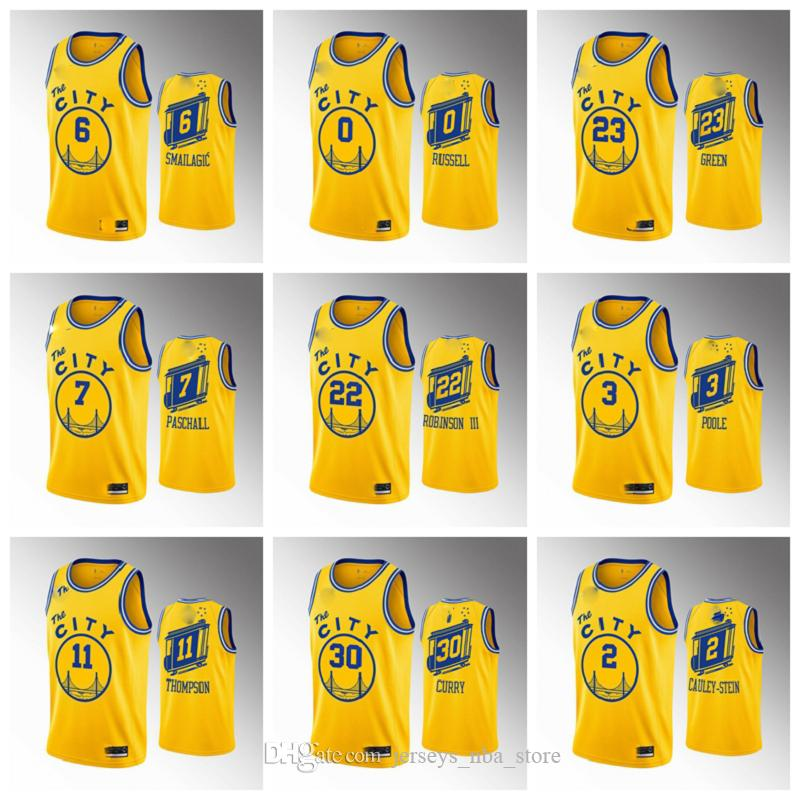 golden StateguerriersHommes Andrew Wiggins Or Basketball Jersey Stephen Curry Poole Damion Lee Marquese Chriss Eric Paschall