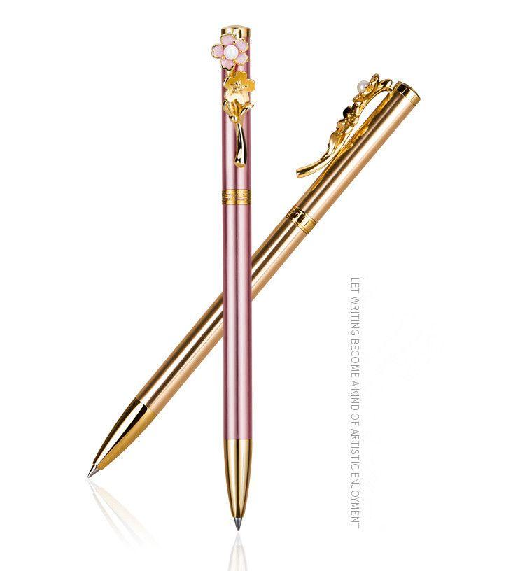Германия Mordern Модный дизайн в стиле фанк Sakura Pen Pearl камень клип Роскошные Металл Шариковая Mother свадебный подарок Ручка с Sakura клип
