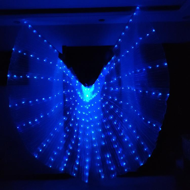 prestazioni Haooy hblVs rima luminoso Prop di orologi 2019 nuova fase portato puntelli ali luminose Golden Wings guardano Dance Dance fluorescente