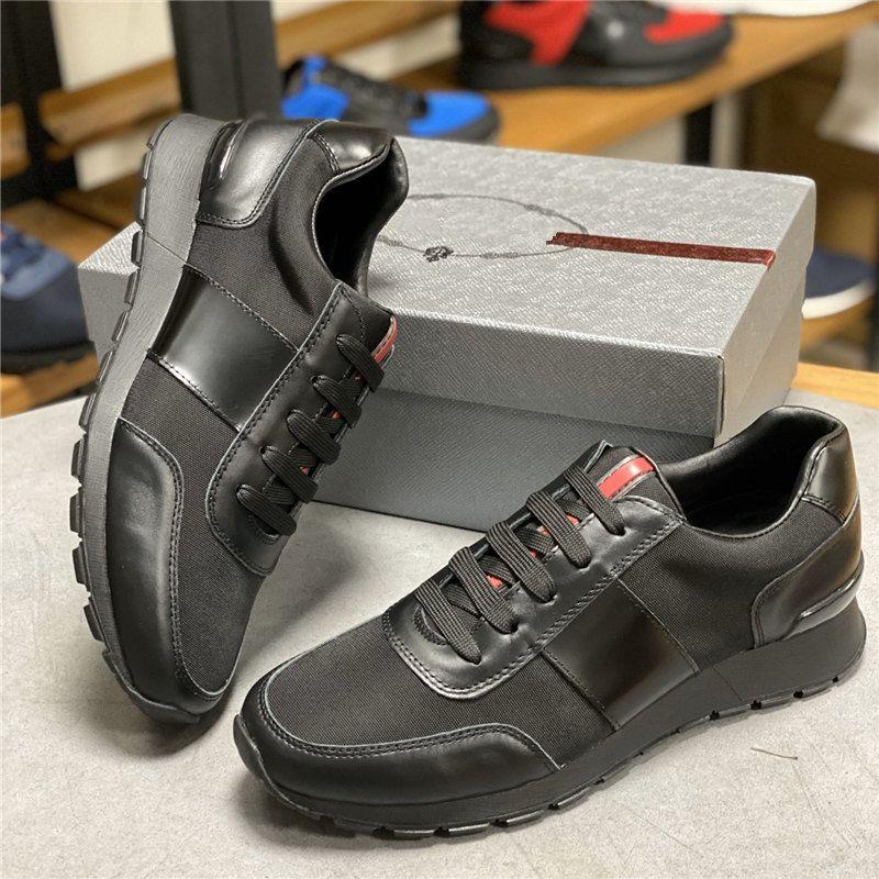 Designer-Schuhe Turnschuhe Mann Schuhe Chaussures Laufen Freizeitschuhe Turnschuhe Basketball Jogging Wandern Leder Nylon Gummisohle 4ss