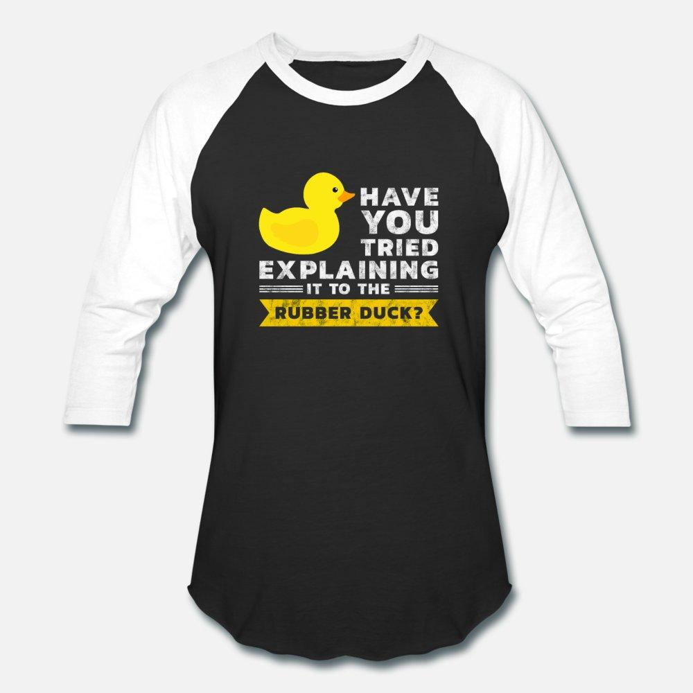 Programmation de canard hommes de T-shirt à manches courtes Debug Personnaliser col rond unisexe en vrac authentique chemise standard printemps