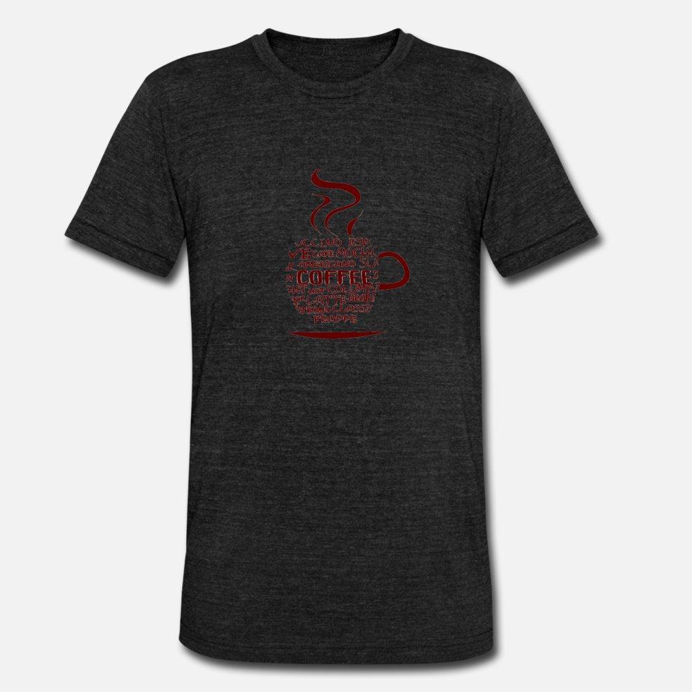 Coffee T Shirt Men Designing manga curta O-Neck Formal aptidão respirável Verão Estilo Outfit shirt