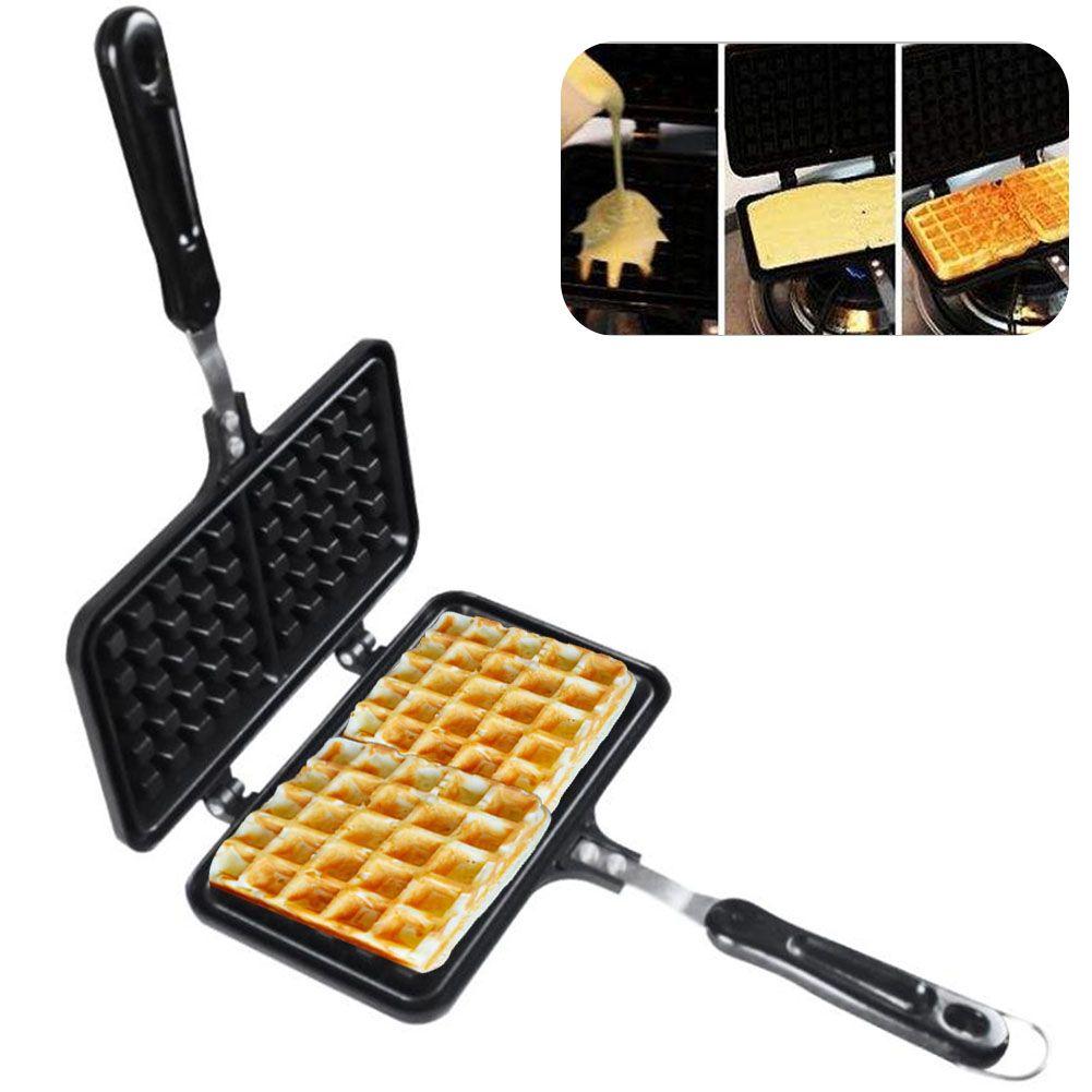 Çift Yan Isıtma Puff Sigara Çubuk Waffle makinesi Fırın Kolay Temiz Mutfak Malzemeleri