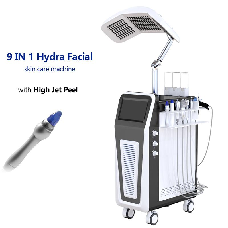 High pressure water jet oxygen Spray Oxygen Jet Peel Machine for Skin Rejuvenation Hydra facial machine PDT LED Light