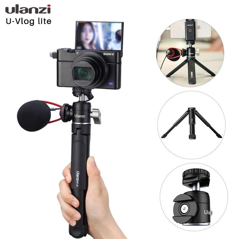 Ulanzi Extend Vlog Stativ Kaltschuh-Handgriff für Canon G7x Mark III M6 Mark II Sony RX100 VII A6400 A6100 A6600 Mobil-Stativ