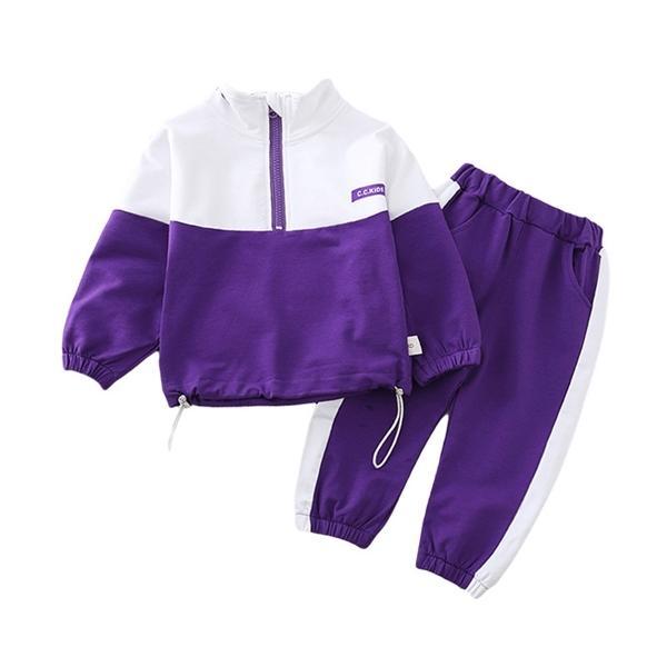 İlkbahar Sonbahar Erkek Çocuklar Kız Elbise Takım Elbise Bebek Katı Ceket Pantolon 2pcs / Aktif Pamuk Giyim Çocuk eşofmanlar 0927 Bebek setleri