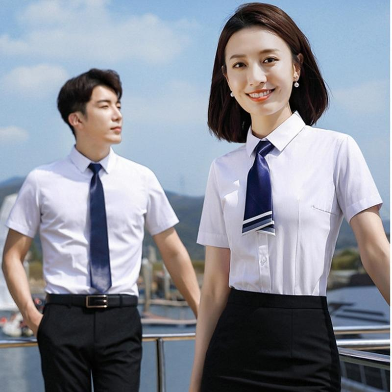 slim-fit professionale estate ufficio 2020 camicia utensili a maniche corte delle donne del cotone non-ferro e camicia delle donne rHV7s