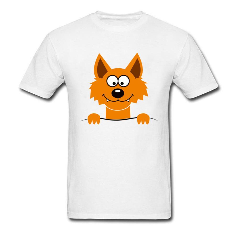 Divertida linda extraña de Fox camiseta de los hombres de foto digital 3D T-shirt 100% algodón transpirable ropa del verano para los hombres Diseño Sin bolsillo