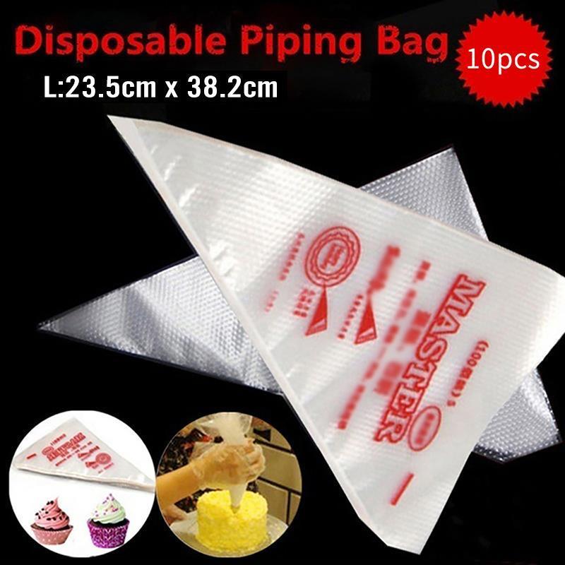 Decoração 10PCS / 20PCS / 50PCS Pastry Bag Set PE descartáveis bolo saco de confeiteiro Piping Bag para Fondant bolo de pastelaria Baking