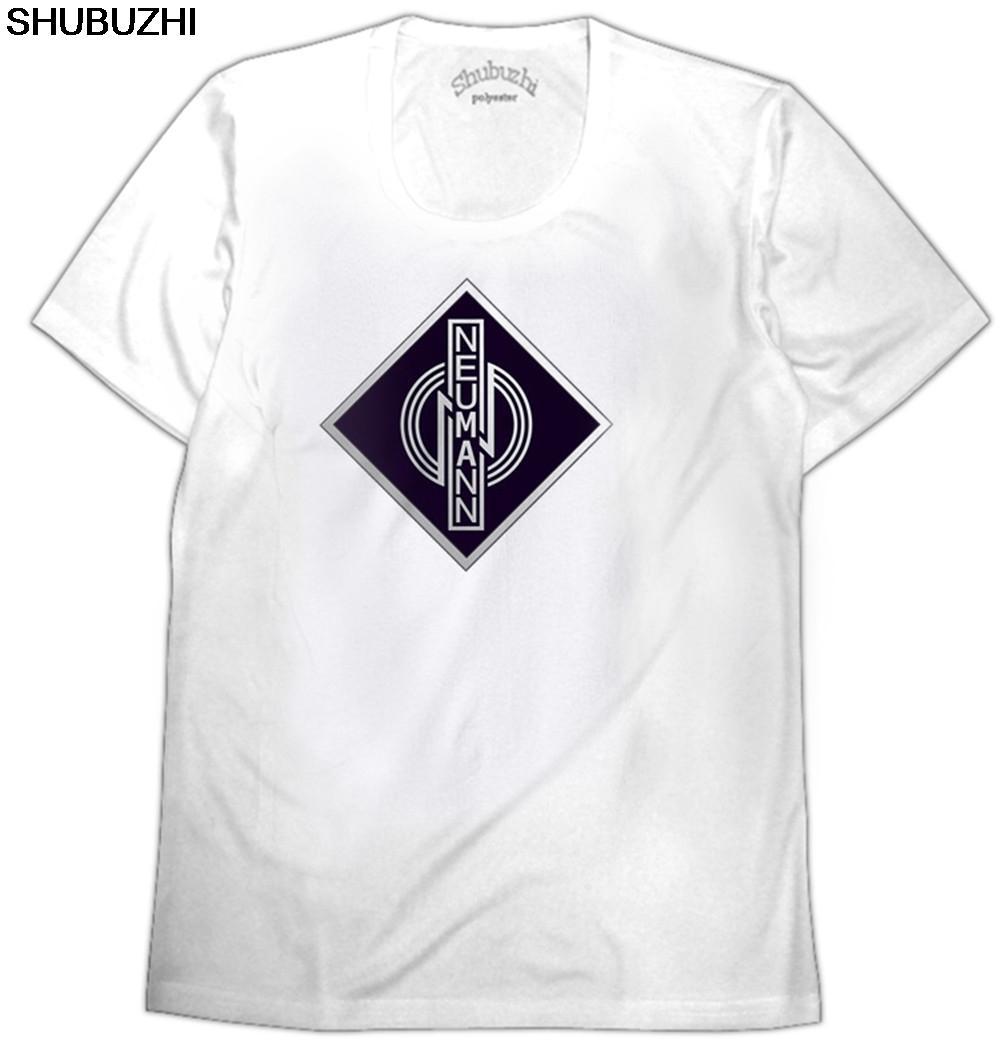 Designer T-Shirt Neumann Mikrofone DP-Mann-T-Shirt Freizeit Sommer Print Rundhalsausschnitt Male Tops Baumwolle Klassisches T-Shirt Eurogröße