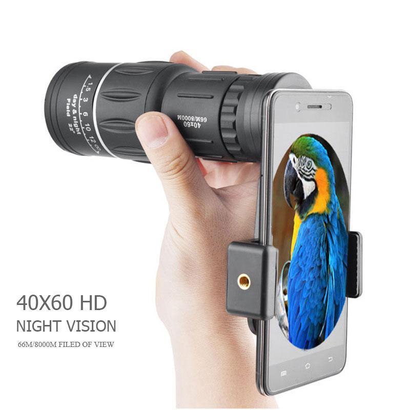 40x60 Powerful HD binóculos de visão noturna de alta qualidade Zoom Monocular impermeável Telescópio Camping Montanha exterior Caça A