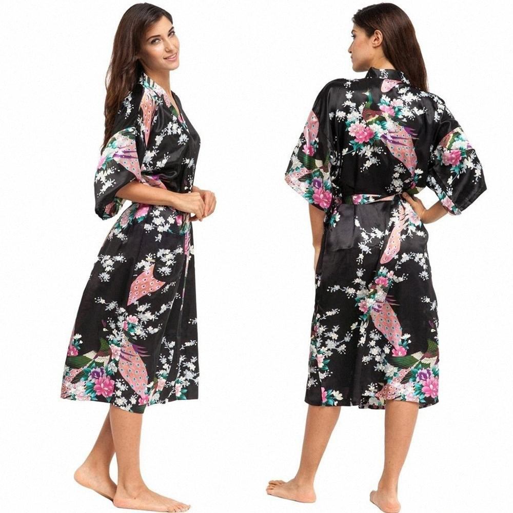 Pyjama pour les femmes ensemble en soie imprimé pyjama satin Pyjama Short sexy en dentelle PJS Accueil Vêtements de nuit Plus Size Lingerie BpiZ #