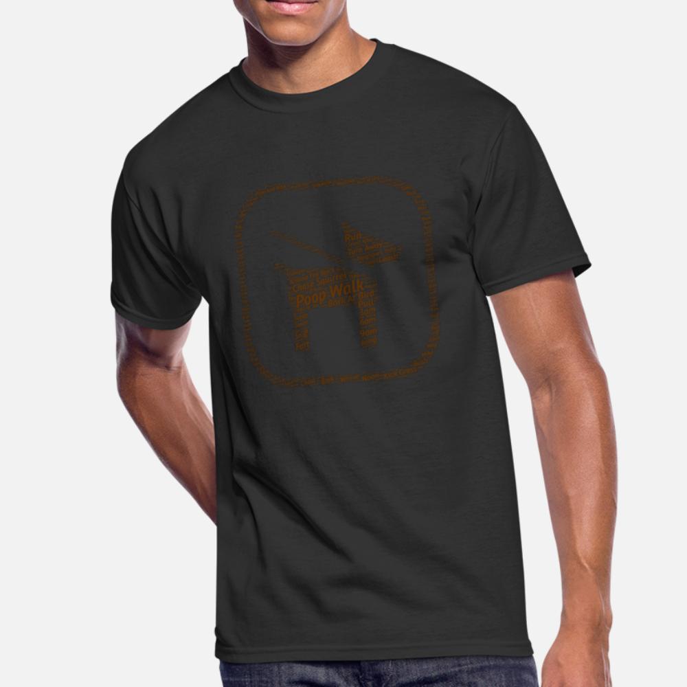 Dog Poop Passeggiata Icona Word Cloud Brown uomini della maglietta di caratteri 100% cotone S-3XL Kawaii La luce del sole la camicia di base Spring Pictures autunno