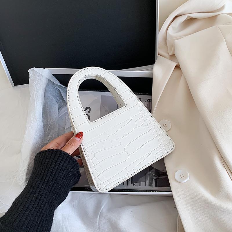 Малый камень шаблон PU кожа Crossbody сумки для женщин 2020 мода мини-цепи сумки леди плечо сумка простой Totes мешок руки