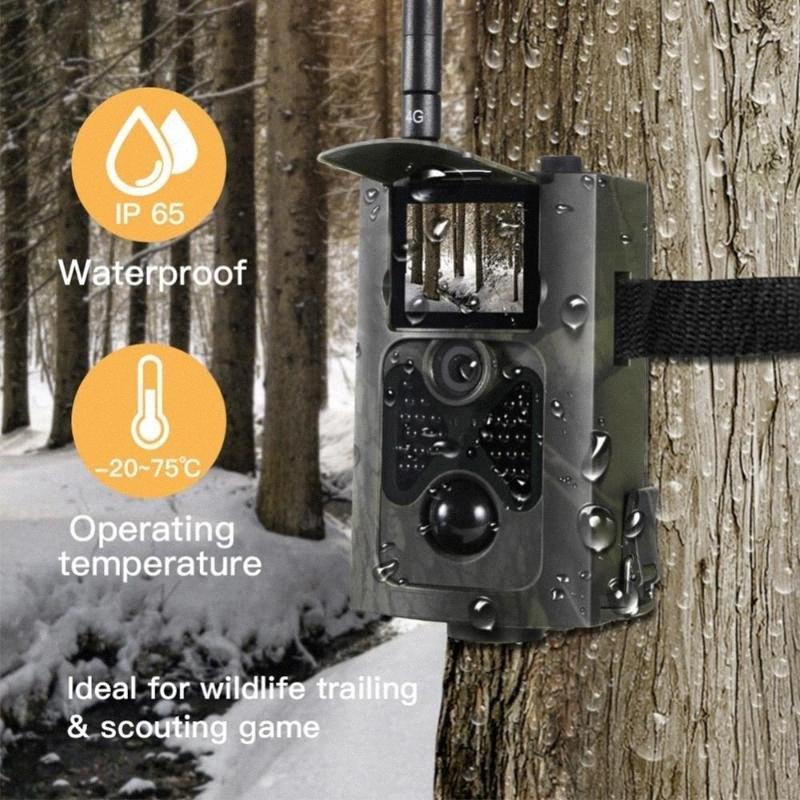 Wireless monitoraggio macchina fotografica di caccia 16MP 1080P Wild Animal di sorveglianza di visione notturna a raggi infrarossi macchina fotografica del gioco HC550A Foto Video Trappola Hunting SumH #