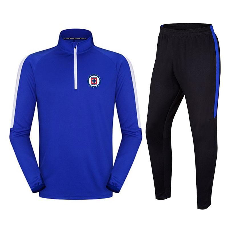 vestito calcio larghi e comodi all'aperto tuta da corsa a uomo Cruz Azul F.C traspirante autunno e l'inverno di calcio Tute