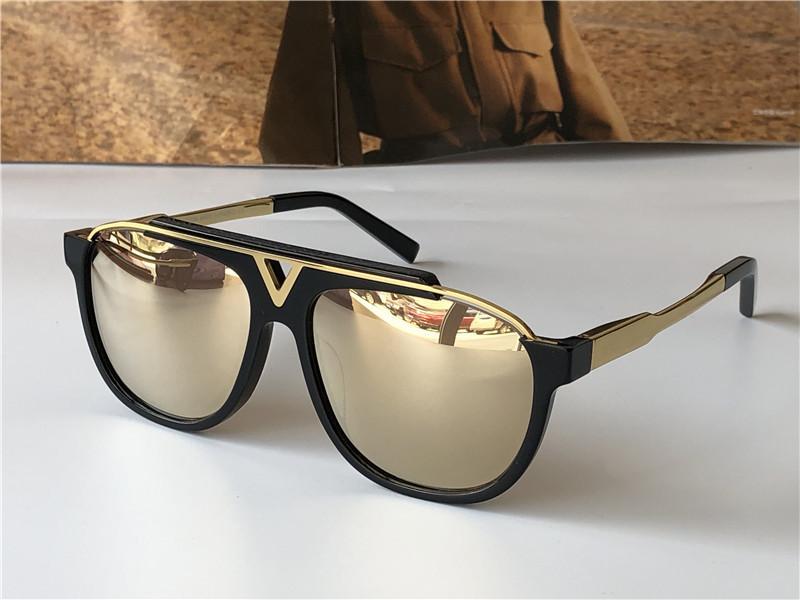 Mode-Design-Sonnenbrillen-Metall-Quadrat-Zwei-Farben-Rahmen Klassische Retro-Männer im Freien Schutz UV400 Eyewear-Top-Qualität mit orange Fall 0936