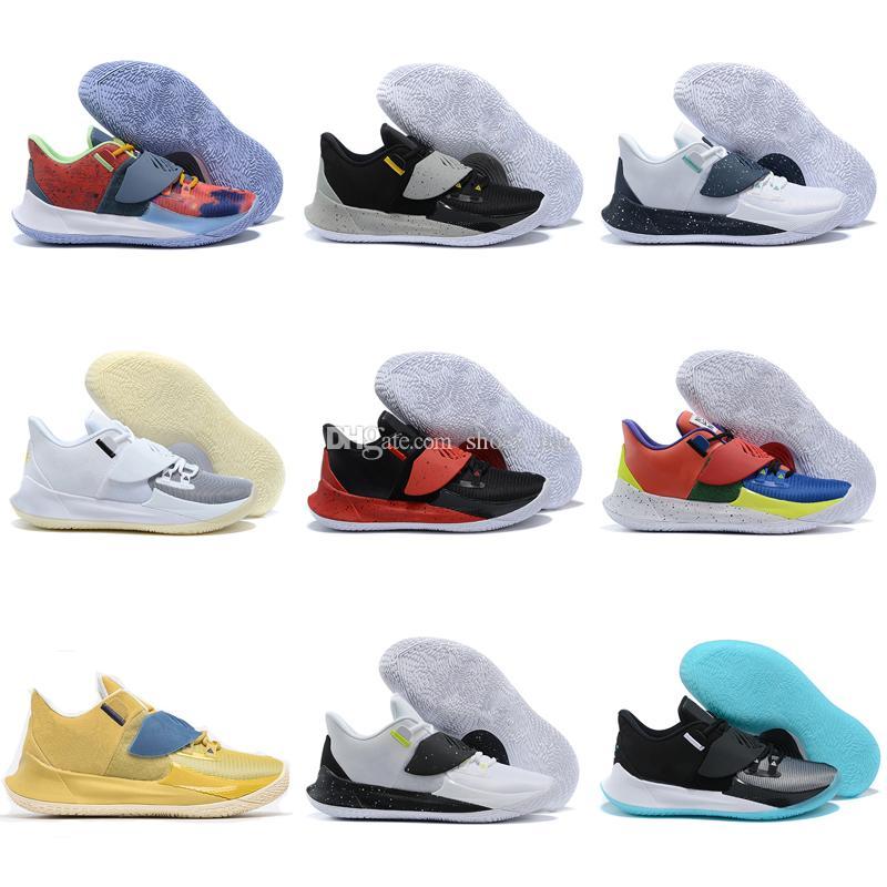 Мужские Кирие 3 Low Баскетбол обувь Irving 3S Мужчины молодежи Увеличить Спорт Обучение Кроссовки Chaussures Размер 36-46