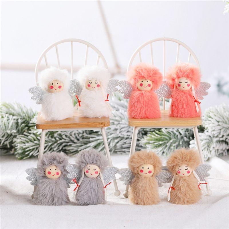 Weihnachtsdekoration-Engels-Junge Mädchen Weihnachten Hanging Ornamente Dekorationen Festliche Saison-Anhänger Home Decor neue Jahr-Geschenk JK2008PH