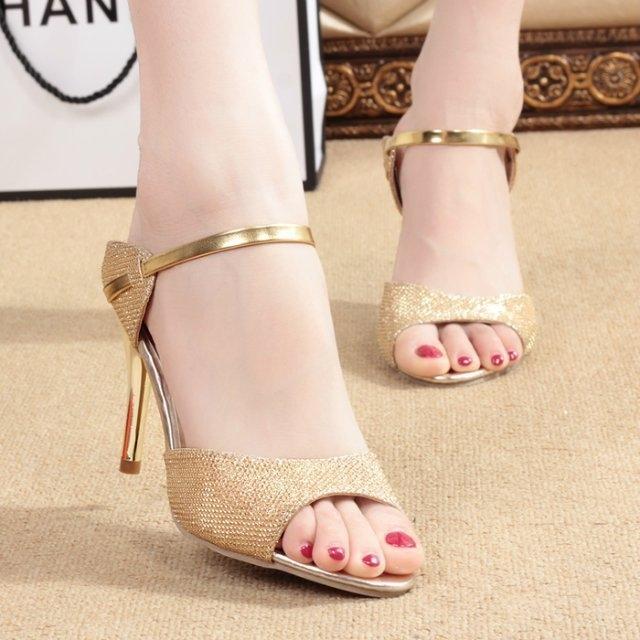 2020 sexy sandali alla moda delle donne con Fishmouth sandali stiletto discoteca dimensioni 43 tacco alto e