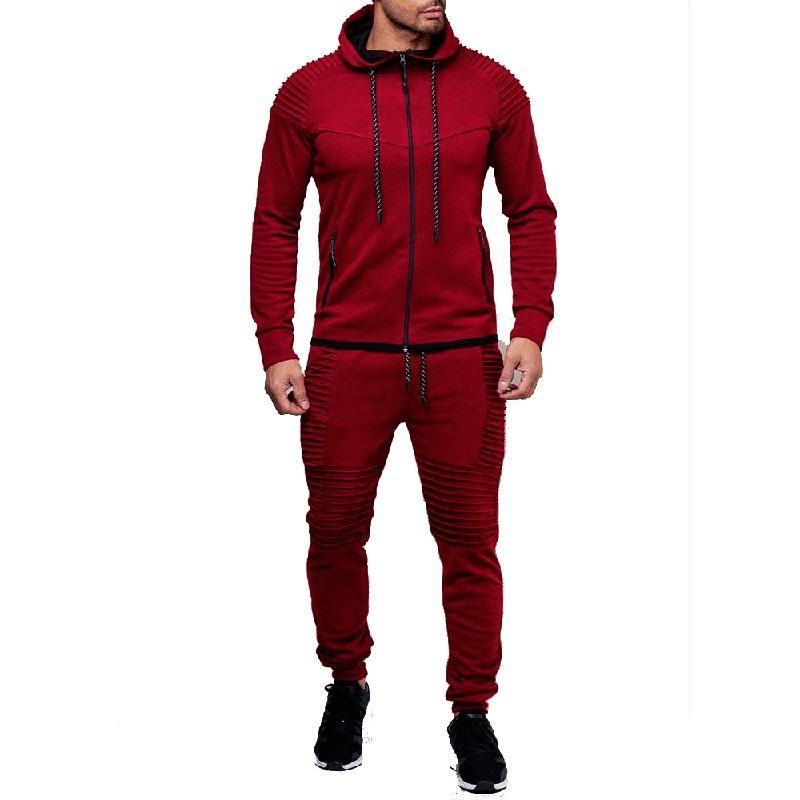 ZOGAA Brand men sweat suit Casual Polyester Yes sweat suits men 6 colors jogger set 2020 mens clothing plus size S-4XL tracksuit