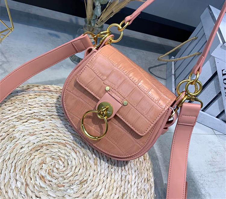 2020 Designer- Classic Women Flap Chain Crossbody Bags Handbag Circle Ring designer Shoulder Bags female Designer Handbags Messenger Purse
