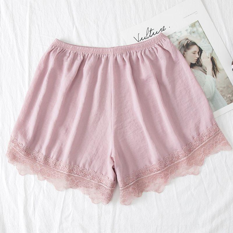Verano nuevos de seda-como los pantalones apretados exteriores cordón de las mujeres contra la intemperie pantalones de seguridad de seguridad usar pantalones cortos sueltos satén polainas