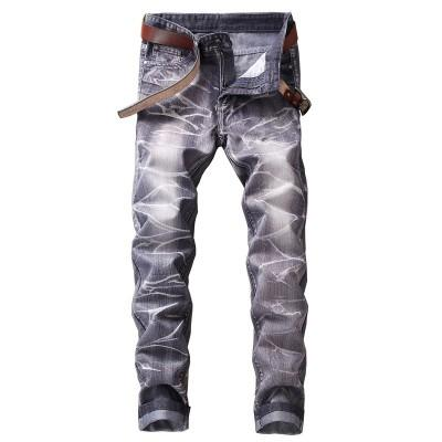 2018 high quality jeans Men&#39s fashion to pop tight trousers The jogger cargo pants Senior hip hop jeans