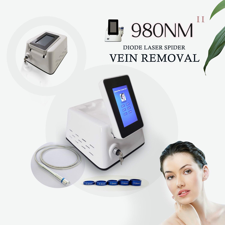 La rimozione del laser vascolare trattamento macchina 980nm Spider Veins rimozione Vascular Therapy 30W Laser a diodi varicose Spider Vein su gambe