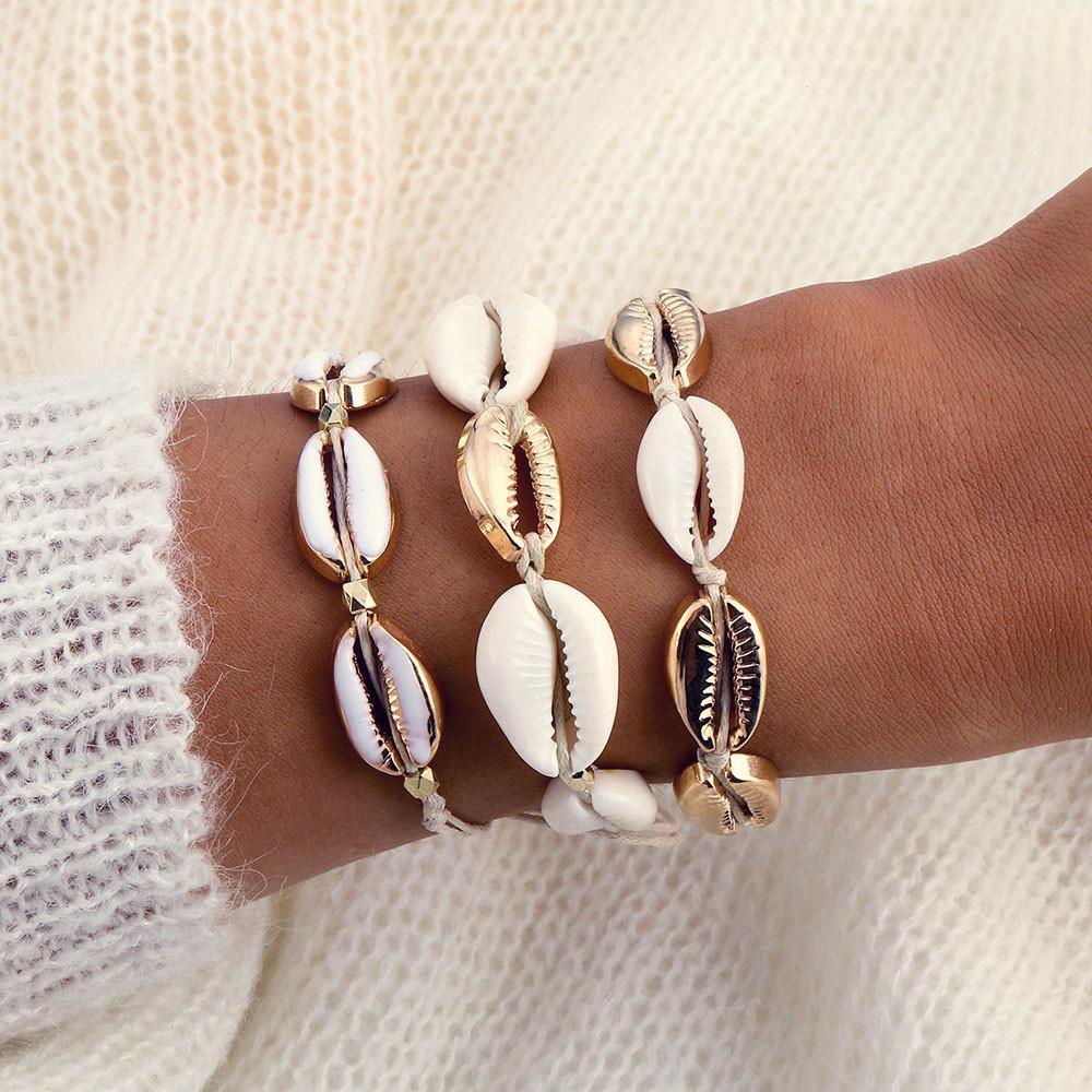 Bracciali modo caldo Ciprea per donne fragili catena Handmade della corda borda il fascino braccialetto Boho Beach Jewelry