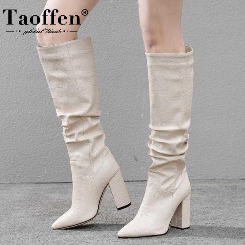 Taoffen Women Knee Boots Fashion