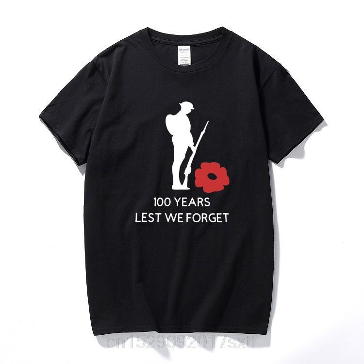 Мужские футболки Мода 2019 Воспоминание Футболка Солдат Мак Благотворительность Mens Королевский британский легион хлопка с коротким рукавом футболки