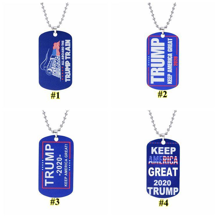 Donald Trump Halskette Amerika Große Anhänger 4 Styles Edelstahl-Paar-Halskette Männer Schmuck-Frauen-Strickjacke-Ketten-Geschenk DWE633